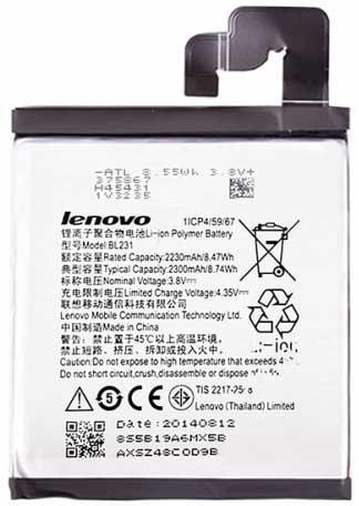 ✅Аккумулятор Lenovo Sisley S90 / BL231 (2230 mAh)