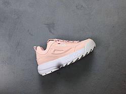 Женские кроссовки Fila Disruptor II Pink (реплика)