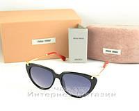 Женские солнцезащитные очки Miu Miu качественная реплика новая модель Миу Миу