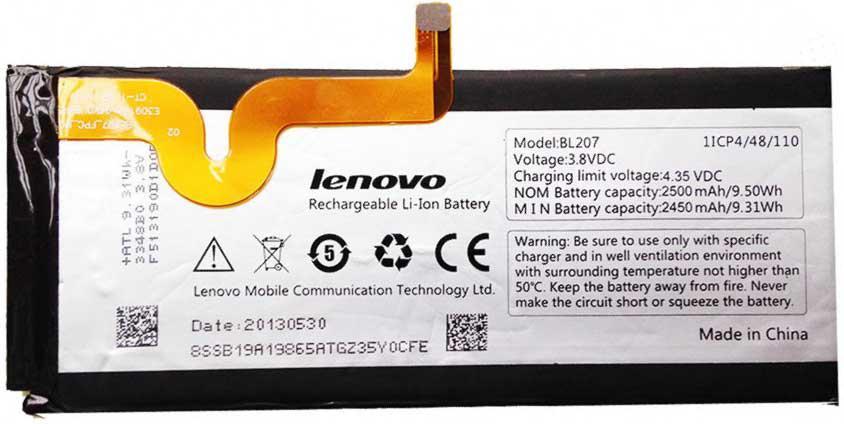 ✅Аккумулятор Lenovo K900 / BL207 (2450 mAh)