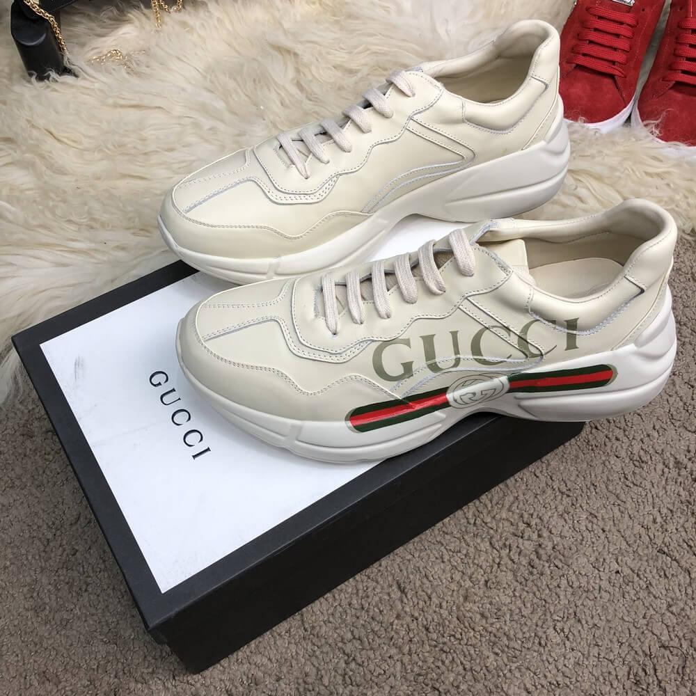 d5cc9d7fc834 Кроссовки мужские Gucci 18401 белые - купить по лучшей цене, от ...