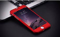 Чехол Бампер GKK для Iphone 5 / 5s оригинальный Red с яблоком 360 + стекло в подарок