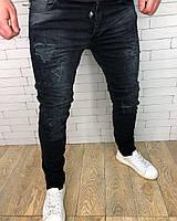 Джинсы мужские CR7 D3098 черные, фото 1