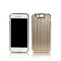 Чехол Remax Travel Suitcase iPhone 6/6s Gold силикон