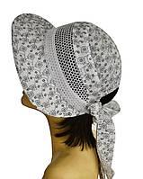 Шляпа женская Лиза кружева ромашка на белом