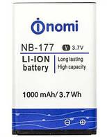 ✅Аккумулятор Nomi i180 / NB-177 (1000 mAh)