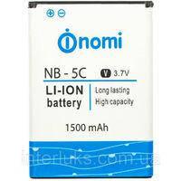✅Аккумулятор Nomi i300 / NB-5C (1500 mAh)