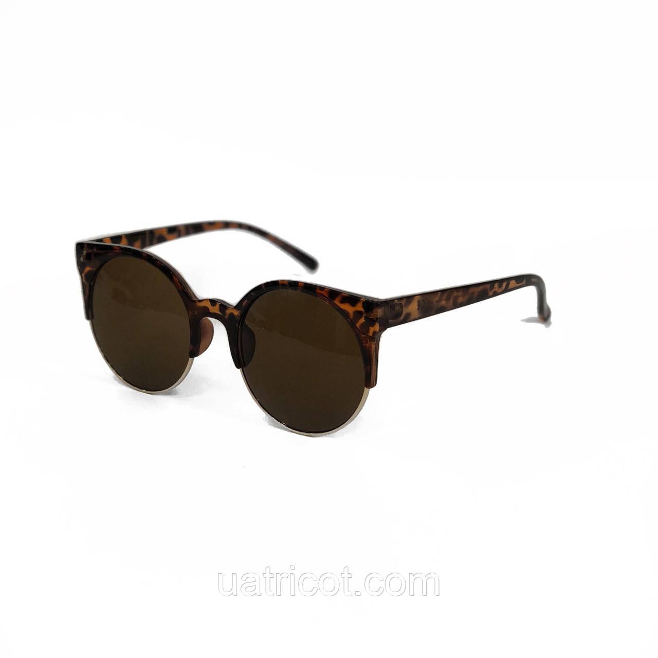 Женские солнцезащитные очки кошки Премиум класса в коричневой оправе