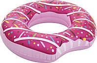 Надувной круг Розовый Пончик 107 см BestWay розница опт
