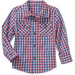 Рубашка в клеточку разноцветная  Healthtex(США) (Размер  3Т)
