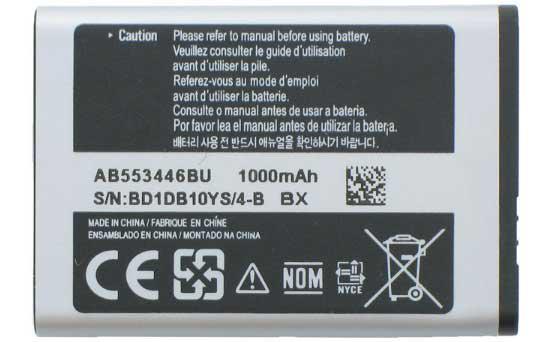 ✅Аккумулятор Samsung M2510 / AB553446BU (1000 mAh)