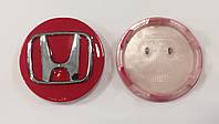 Заглушки колпачки литых дисков Honda красные
