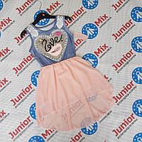 Детские сарафаны для девочек с паетками меняшками оптом B.B.W kids