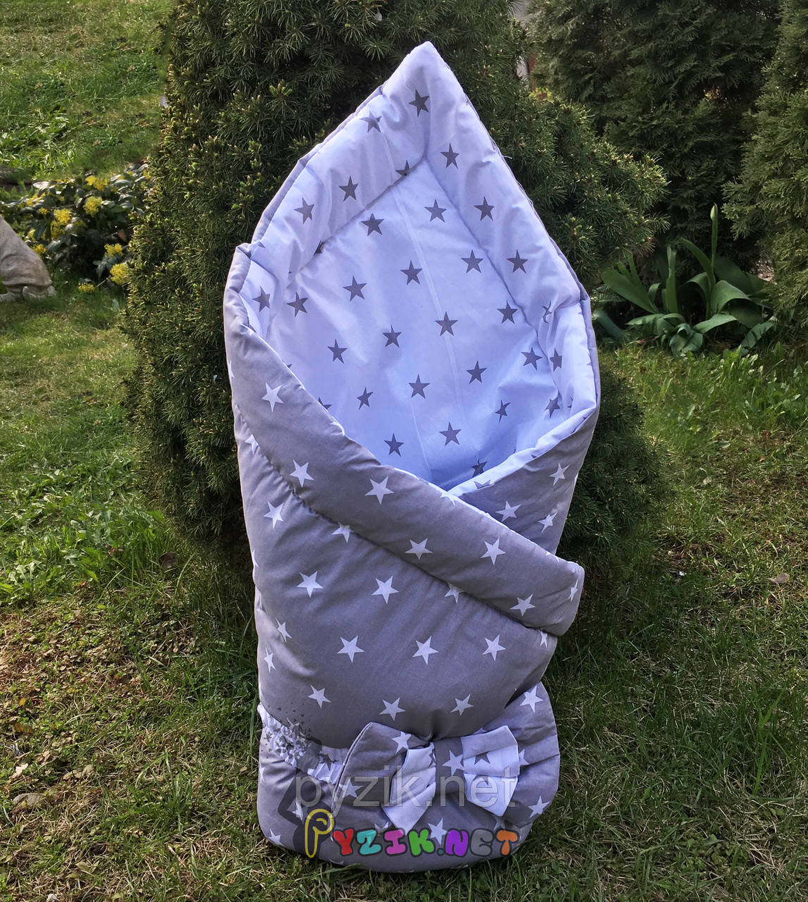 """Конверт-одеяло двухсторонний для новорожденных на выписку и в коляску на синтепоне Lari """"Цвет 5"""""""