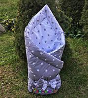 """Конверт-одеяло двухсторонний для новорожденных на выписку и в коляску на синтепоне Lari """"Цвет 5"""" , фото 1"""