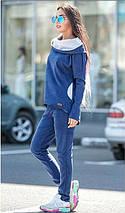 Спортивный женский костюм из замша, фото 2