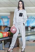 Спортивный стильный костюм из ангоры, фото 2