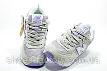 Женские кроссовки в стиле New Balance 574 Classic, Бежевый\фиолетовый, фото 3
