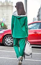 Замшевый спортивный костюм с ассиметричной кофтой, фото 3