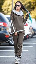 Замшевый спортивный костюм с ассиметричной кофтой, фото 2