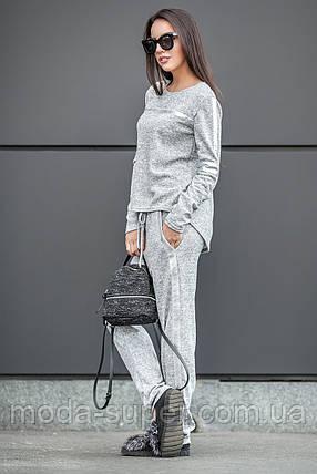 Спортивный костюм с полосами в серебре, фото 2