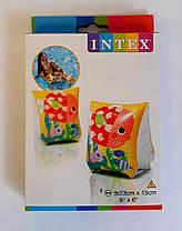 Нарукавники надувные с рыбками 23*15 см 3-6 лет 58652 Intex Китай