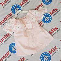 Летние детские хебешные блузки для девочек оптом