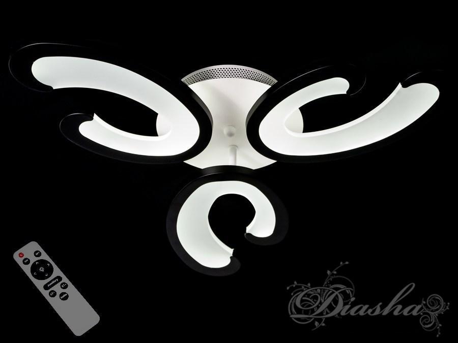 Оригинальная светодиодная потолочная люстра MX2289/3BK dimmer