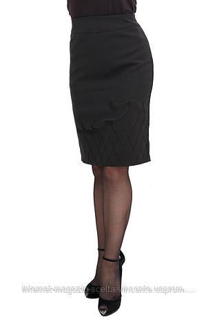 52c627e513a Купить Женскую офисную юбку больших размеров SV Имидж оптом и в ...