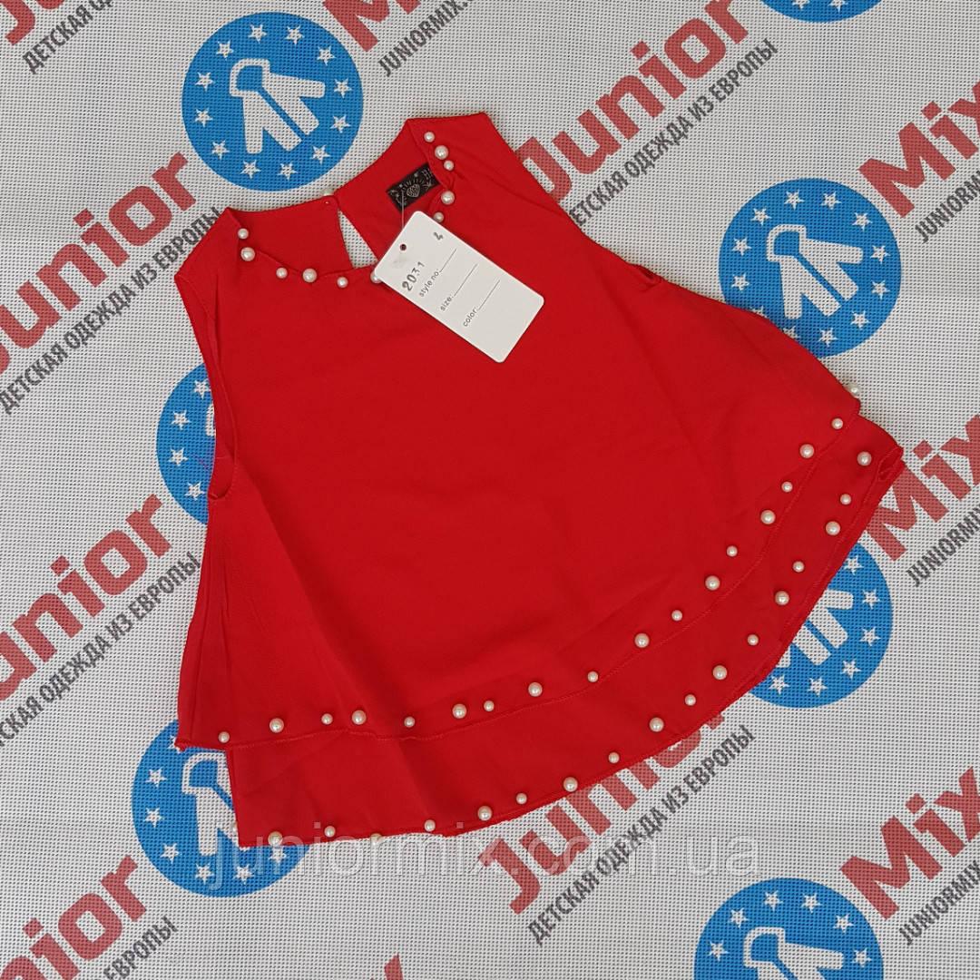 Летние модные блузки для девочек оптом  HAPPY STAR