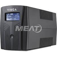 Vinga LCD 1200VA plastic case with USB+RJ45 (VPC-1200PU), фото 1