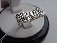 Оригинальное Серебряное кольцо с золотой пластинкой , фото 1