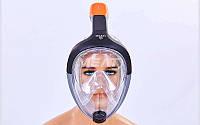 Маска для снорклинга с дыханием через нос M501L-BK. (р-р L-XL), фото 1
