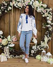 Белая женская рубашка вышиванка Жарптица, фото 2