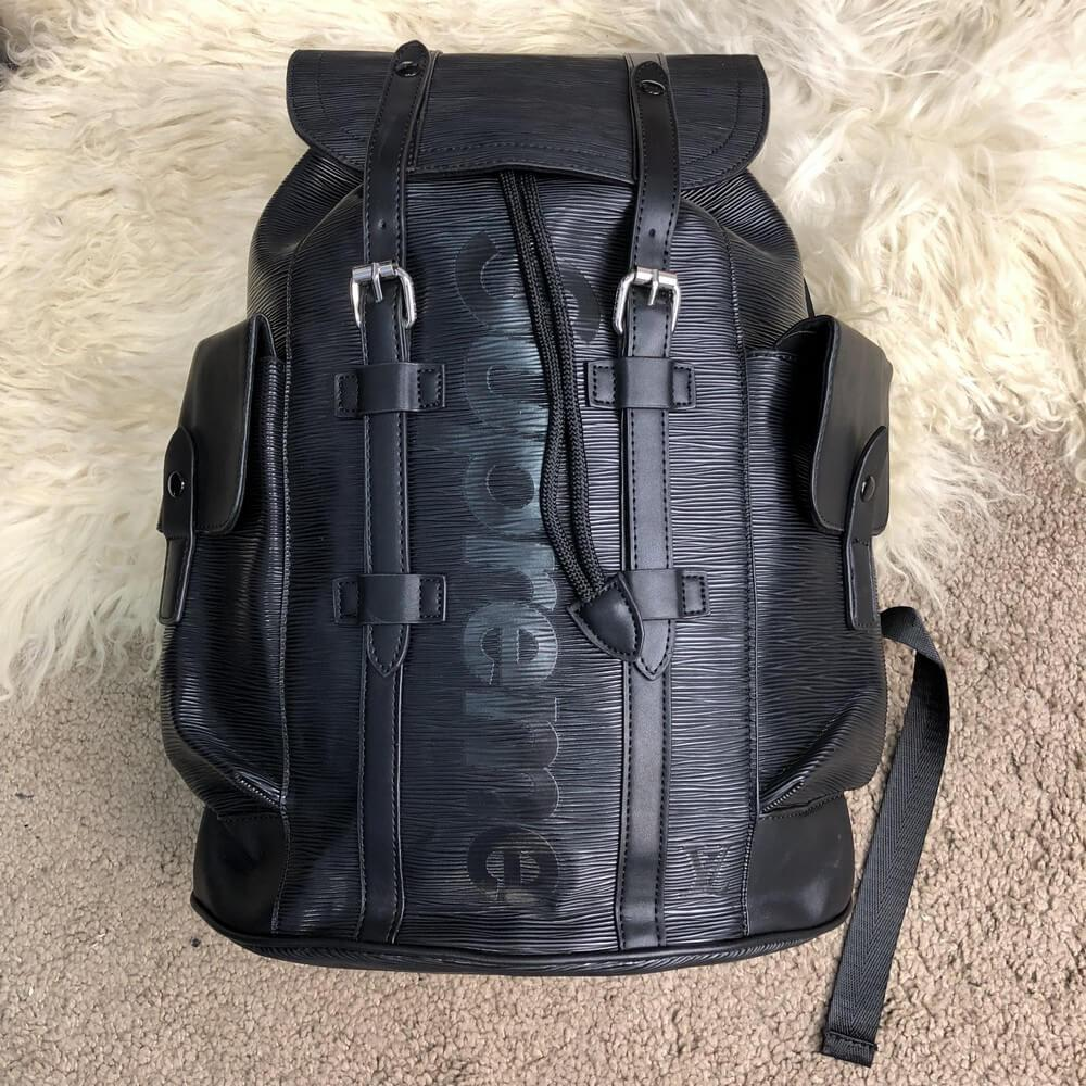 6cd80266ea22 Портфель Louis Vuitton x Supreme Christopher Backpack Black реплика ...