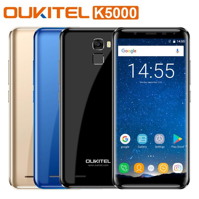 "Смартфон Oukitel K5000, 4/64Gb, 2sim, 5000mAh, экран 5.7"" IPS, 13/16Мп, GPS, 4G, 8 ядер, Android 7.0"