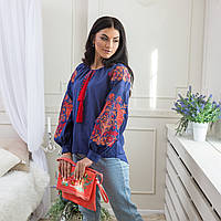 8061b426b44 Женская блузка синяя в Украине. Сравнить цены