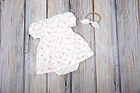 Платье-боди, песочник, Ласточки, размеры: 62, 68, 74, 80