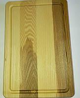 Разделочная доска из ясеня + дуб, размер 30×20 см.