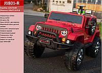 Электромобиль J1801-R Красный р/у,2*12V7AH ,35W*4, колеса EVA, кожа, в кор.129*77,2*74,8см /1/