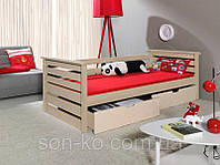 Односпальне ліжко з масиву бук Калина