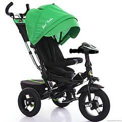 Трёхколесный велосипед Best Trike 6088 F-1430, надув колеса, поворот сидение, зеленый