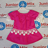 Летние детские блузки для девочек X/Б  оптом Kidi moda