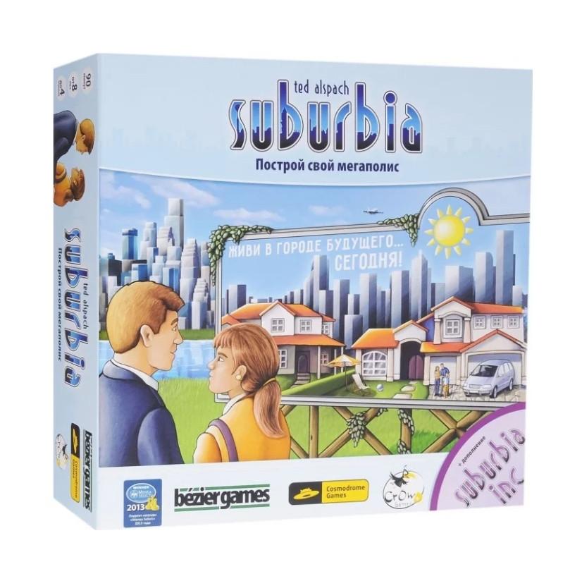 """Настольная игра """"Сабурбия с дополнением (Suburbia + Suburbia Inc)"""" Crowd Games"""