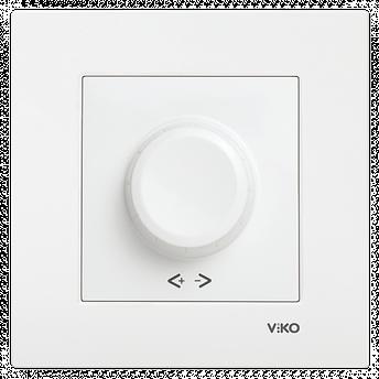 Світлорегулятор 1000W RL поворотний VIKO Karre Білий, фото 2