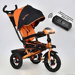 Трёхколесный велосипед Best Trike 6088 F-1210, надув колеса, поворот сидение, оранжевый