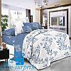 Полуторное постельное бельё из хлопкового сатина МАДРИД (150*220)