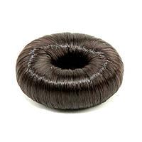 """Подкладка-кольцо для создания прически """"пучок"""" 5.5 см с синтетическими волосами шоколад, фото 1"""