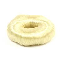"""Подкладка-кольцо для создания прически """"пучок"""" 5.5 см с синтетическими волосами блонд, фото 1"""