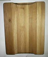 Разделочная доска толстая из дуба, размер 30×20 см.